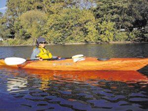 Kayaking past Kearny